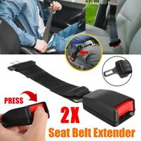 "2X Universal 14"" Car Seat Seatbelt Safety Extender Belt Extension 7/8"" BUCKLE -"