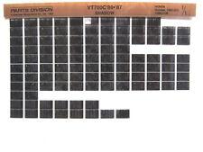 Honda VT700 VT700C Shadow 1986 1987 Parts List Catalog Microfiche a563