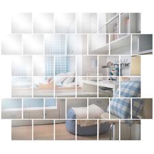 32pcs Espejos de Pared Adhesivo Forma Cuadrada 15cm para Baño Salón Habitación