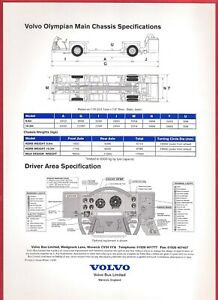 Specification Sheet ~ Volvo Olympian - Driveline & Chassis - Cab Layout - 1997