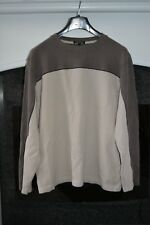 Men's Long Sleeves Brown Block Top. Size XL.  Free Postage.