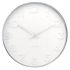 Karlsson Mr. Blanc Chiffres Grand 51cm Acier Horloge Murale Uniques Moderne
