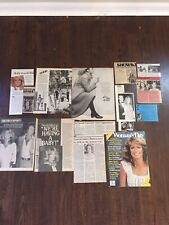 Vintage FARRAH FAWCETT Charlie's Angels Movie And Ad clippings Lot 2