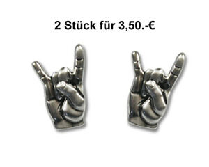 Angebot   Metalhand Rock Hand Pommesgabel  Pin Button Anstecker 22mm Rockpin
