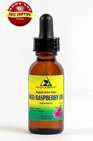 RED RASPBERRY SEED OIL UNREFINED ORGANIC by H&B Oils Center GLASS DROPPER 1 OZ