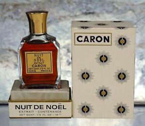 VINTAGE CARON NUIT DE NOEL EXTRAIT - CONTENANCE 1/2 ( .5 ) OZ. FULL WITH BOX.