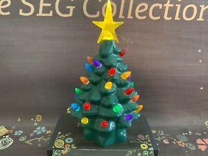 "Mr. Christmas Battery Operated Christmas Tree Timer 7 3/4"" Ceramic Retro Design"