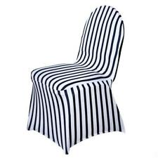 50 pcs Black and White Striped Spandex Stretchable CHAIR COVERS Wedding Supplies