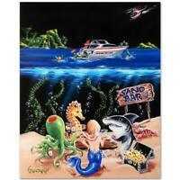 "Michael Godard ""Sand Bar 1 (M)"" Limited Edition Giclee On Canvas"
