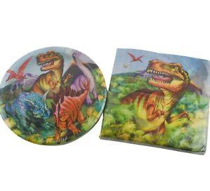 Dinosaurs Birthday Party Supplies 20 Plates Napkins T-Rex
