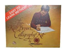 Vintage Ken Brown Calligraphy Kit 3078 By Hunt Speedball -- BONUS Book Included