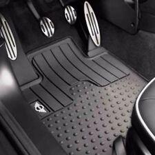 5 Pc OEM Mini Cooper R57 Rubber Floor Mat Set Front Rear Trunk Mini Wings Logo