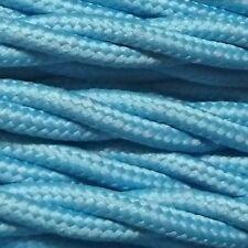 3 Cœurs 0.75mm Matériau Tordu Tressé Électrique Lumière Câble Bleu 10m