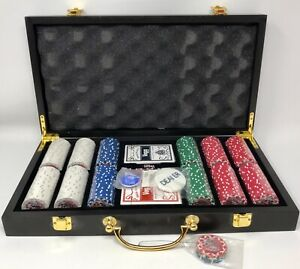 Vegas Classics (300) 11.5 Gram Poker Chips Set w/ Cards & Dice in Case - NEW