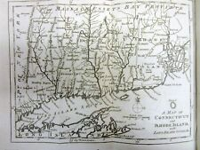Original 1776 REVOLUTIONARY WAR MAP of CONNECTICUT Rhode Island LONG ISLAND NY