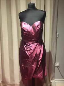 Alfred Angelo raspberry pink bridesmaid cocktail occasion prom dress UK 12