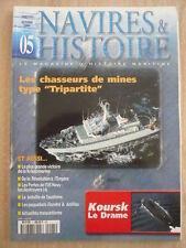 NAVIRES et HISTOIRE n° 5 Chasseurs de mines. Koursk; Paquebots FLANDRE  ANTILLES