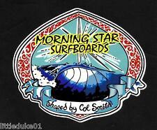 MORNING STAR 1970'S Surfboard Manufacturer NSW Sticker Decal LONGBOARD Surfing