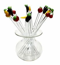 Bowlespießer Fruchtspießer aus Glas 12 Stück Cocktailspieße von GlasXpert