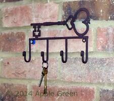 Key Rack Wall Hook Metal 4 Hooks Vintage Shabby Chic Antique Style Holder Safe