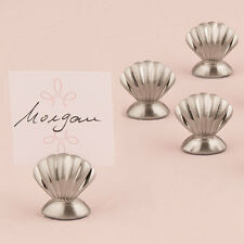 Shell Silver Wedding Place Card Holders Set of 8 Weddingstar