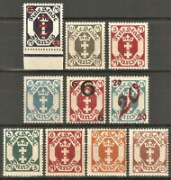 DR Danzig Rare WW1 Stamp 1922 Danzig Service Officials Classic Full Sets Stamps