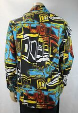 Mens Vintage 70s Style Disco HANDMADE Crazy Print Prince Festival Party Shirt