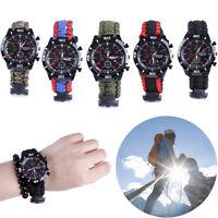 Bracelet de montre extérieur de secours de survie de Paracord avec le siffleIHS