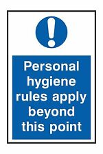 1x personnal hygiene rules apply sticker warning toilet tent house
