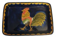 "Talavera Mexican Pottery 14"" X 10"" X 2"" Baking/Serving Dish Rooster"