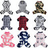 Warm Fleece Dog Pajamas Jumpsuit Pet Clothes Cat Coat Homewear Puppy Costume New