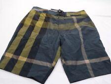 New Authentic Burberry Men Short Plaid Trademark Nova Check Swimwear Navy M $295