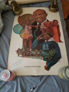 ORIGINAL 1960s JESSE OWENS LINCOLN MERCURY SPORTS PANEL MEMBER POSTER 20 X 30