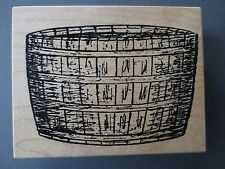 garden basket bucket rubber stamp by stampa rosa