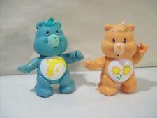 LOT OF 2 VINTAGE CARE BEARS ACTION FIGURES WISH BEAR & FRIEND BEAR 1983