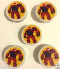Lot of 5 Big Hero 6 Movie Eraser Pencil Tops Party Favors