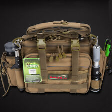 Waterproof Fishing Tackle Bag with 2PCS Fishing Lure Box Outdoor Fishing