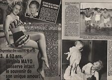Coupure de presse Clipping 1984 Virginia Mayo  (3 pages)