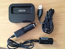 NEW FM RADIO TRANSMITTER + CAR CHARGER + DESK SYNC DOCK FOR IPHONE 3,4,4S IPOD