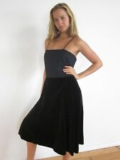 Jean Allen Cresta DRESS VINTAGE 80s BLACK CHIFFON VELVET COCKTAIL PARTY GOWN M