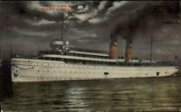 Northern Steamship Co Steamer Ship Northwest at Night c1910 Postcard