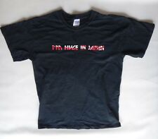 Huge in JAPAN flag rising sun medium black rockstar big vintage tee shirt teach