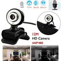 Desktop USB 2.0 12MP Full HD Webcam Computer Camera Video For PC Laptop New E