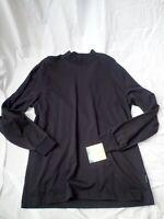 Woolrich First Forks Cotton Long Sleeve Moc Turtleneck Shirt Black M