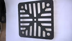 """1 x Cast iron metal gulley grate grid see photo heavy duty 6"""" square 150mm"""