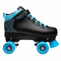 Rookie Kids Boys Starlight Quad Roller Skates Junior Padded Ankle Collar Touch