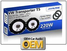 VW Transporter T5 Front Door speakers Alpine car speaker kit with Adapter Pods