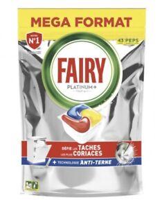 FAIRY Platinum Tablette lave-vaisselle            Touten1- Paquet de 43 Capsules