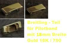Breitling chronomat piloto banda, ersatzglied verlängerungsglied 18mm Gold 18k 750