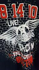 Aerosmith- Cocked,Locked And Ready To Rock Tour Boston 2010 T-Shirt Size XL BLUE
